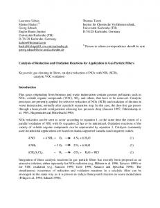 Catalysis of Reduction and Oxidation Reactions for Applications in ...
