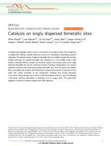 Catalysis on singly dispersed bimetallic sites