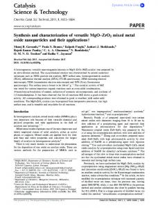 Catalysis Science & Technology PAPER