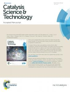 Catalysis Science & Technology