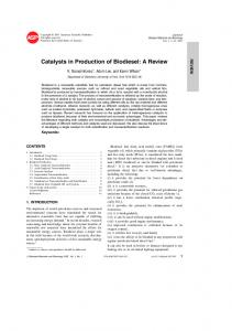 Catalysts in Production of Biodiesel: A Review