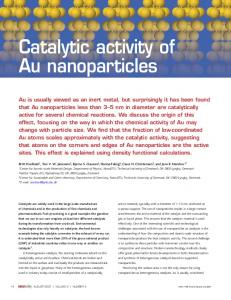 Catalytic activity of Au nanoparticles