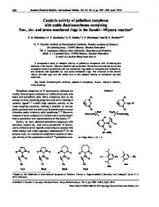 Catalytic activity of palladium complexes with stable ... - Springer Link