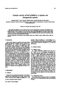Catalytic activity of RuCl - Springer Link