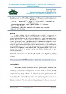catalytic activity of solid base catalyst for benzaldehyde condensation