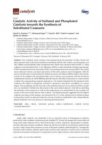 Catalytic Activity of Sulfated and Phosphated ...