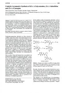 Catalytic Asymmetric Synthesis of