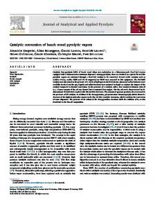 Catalytic conversion of beech wood pyrolytic vapors