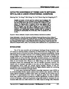 CATALYTIC CONVERSION OF FORMIC ACID TO METHANOL WITH