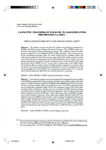 CATALYTIC CRACKING OF PALM OIL TO GASOLINE OVER ... - Core