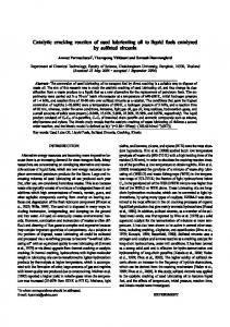 Catalytic cracking reaction of used lubricating oil to ... - ThaiScience