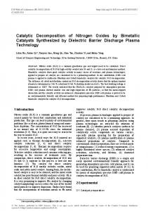 Catalytic Decomposition of Nitrogen Oxides by Bimetallic Catalysts