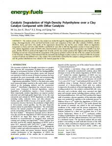 Catalytic Degradation of High-Density Polyethylene over a Clay ...