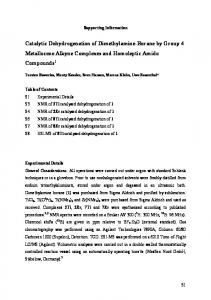 Catalytic Dehydrogenation of Dimethylamine-Borane by Group 4 ...