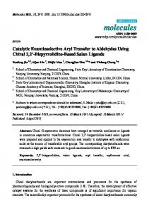 Catalytic Enantioselective Aryl Transfer to