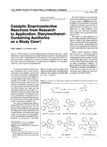 Catalytic Enantioselective Reactions from Research ...