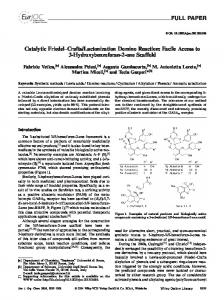 Catalytic FriedelCrafts/Lactonization Domino ... - Wiley Online Library