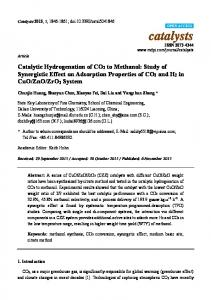 Catalytic Hydrogenation of CO2 to Methanol: Study of ... - MDPI