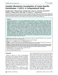 Catalytic Mechanism Investigation of Lysine-Specific ... - ScienceOpen