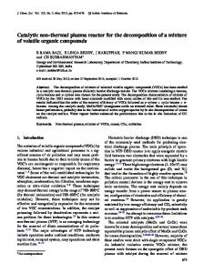 Catalytic non-thermal plasma reactor for the decomposition of a ...