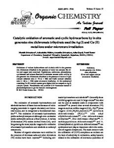 Catalytic oxidation of aromatic and cyclic ...