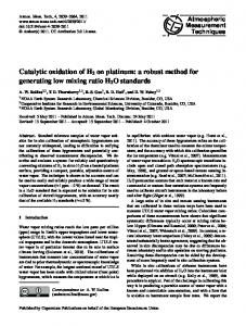 Catalytic oxidation of H2 on platinum - Atmos. Meas. Tech