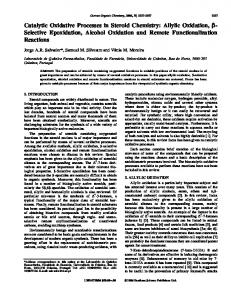 Catalytic Oxidative Processes in Steroid Chemistry ...