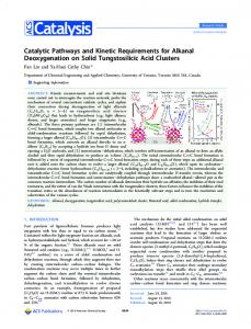 Catalytic Pathways and Kinetic Requirements for ... - ACS Publications