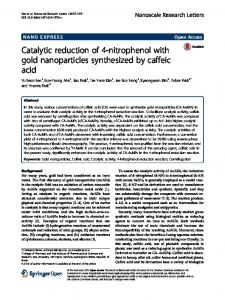 Catalytic reduction of 4-nitrophenol with gold nanoparticles ... - Core