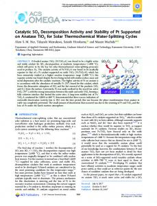 Catalytic SO3 Decomposition Activity and Stability ... - ACS Publications