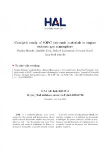 Catalytic study of SOFC electrode materials in engine exhaust gas ...