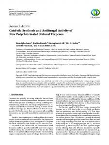 Catalytic Synthesis and Antifungal Activity of New Polychlorinated ...