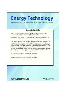 Catalytic transfer hydrogenation of furfural for ... - Wiley Online Library