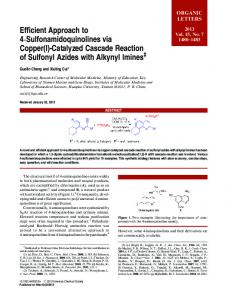 Catalyzed Cascade Reaction of Sulfonyl Azides with Alkynyl Imines