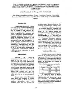 Catalyzed regeneration of activated carbons used for
