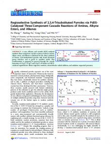 Catalyzed Three-Component Cascade Reactions ... - ACS Publications