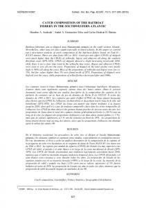 catch composition of the baitboat fishery in the southwestern ... - Iccat