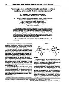 catecholate complexes based on o quinones with electron