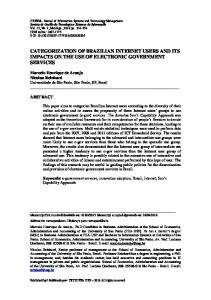 categorization of brazilian internet users and its impacts on ... - SciELO