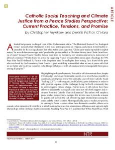 Catholic Social Teaching and Climate Justice from a Peace Studies ...