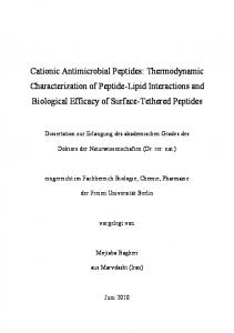 Cationic Antimicrobial Peptides - CiteSeerX