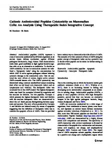 Cationic Antimicrobial Peptides Cytotoxicity on ... - Springer Link