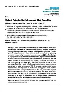 Cationic Antimicrobial Polymers and Their Assemblies