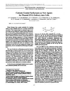 Cationic Gemini Surfactants as New Agents for ... - Springer Link