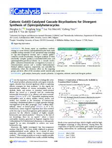 Cationic Gold(I)-Catalyzed Cascade Bicyclizations for