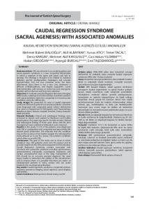 caudal regression syndrome (sacral agenesis) with