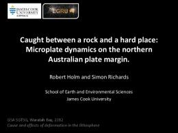 Caught between a rock and a hard place: Microplate ...