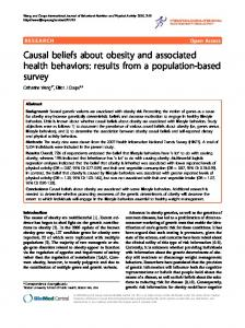 Causal beliefs about obesity and associated health ... - CiteSeerX
