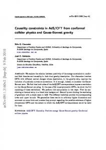 Causality constraints in AdS/CFT from conformal collider physics and ...