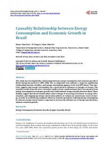 Causality Relationship between Energy Consumption and ... - CiteSeerX